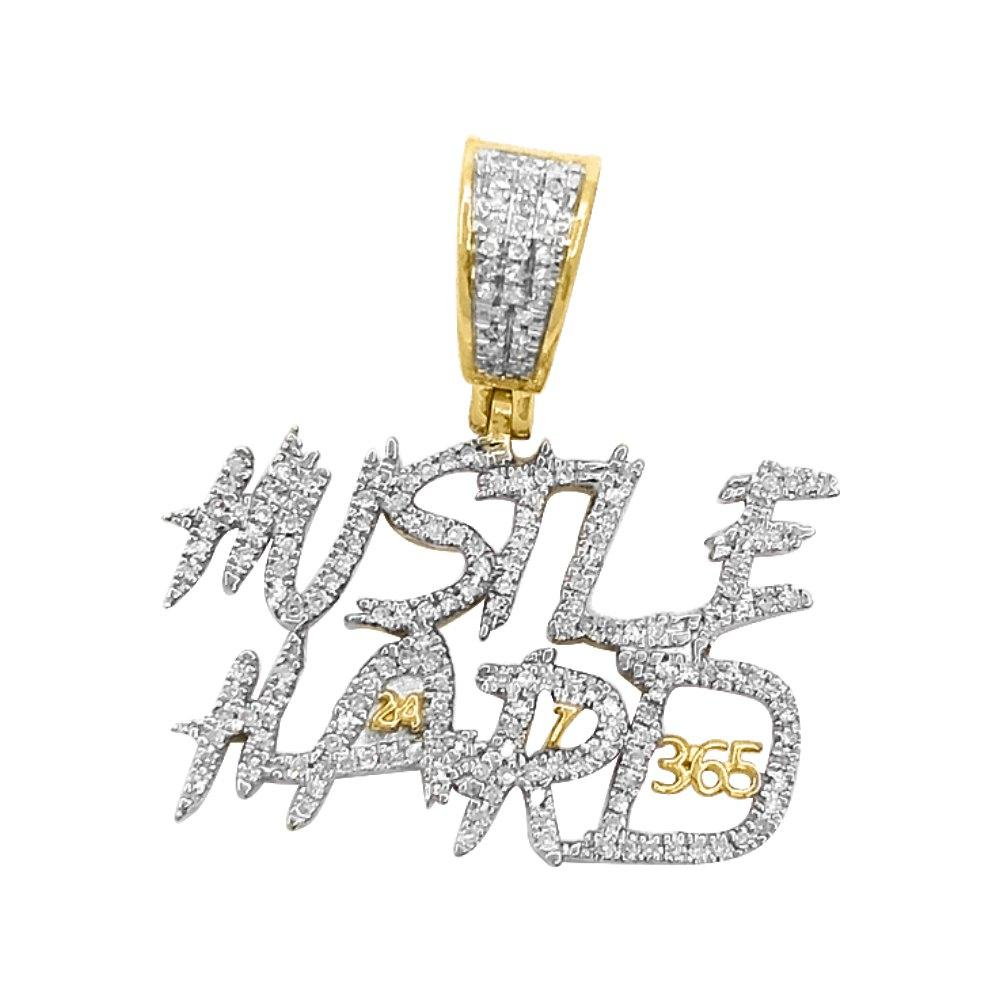 Hustle Hard 365 Diamond Pendant .37cttw 10K Yellow Gold