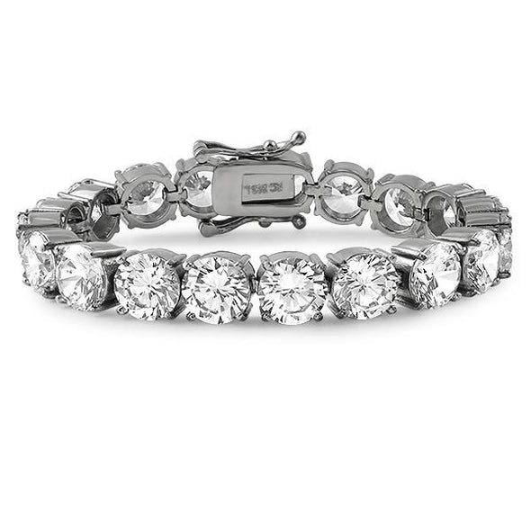 10MM CZ No Fade Steel Bling Bling Tennis Bracelet