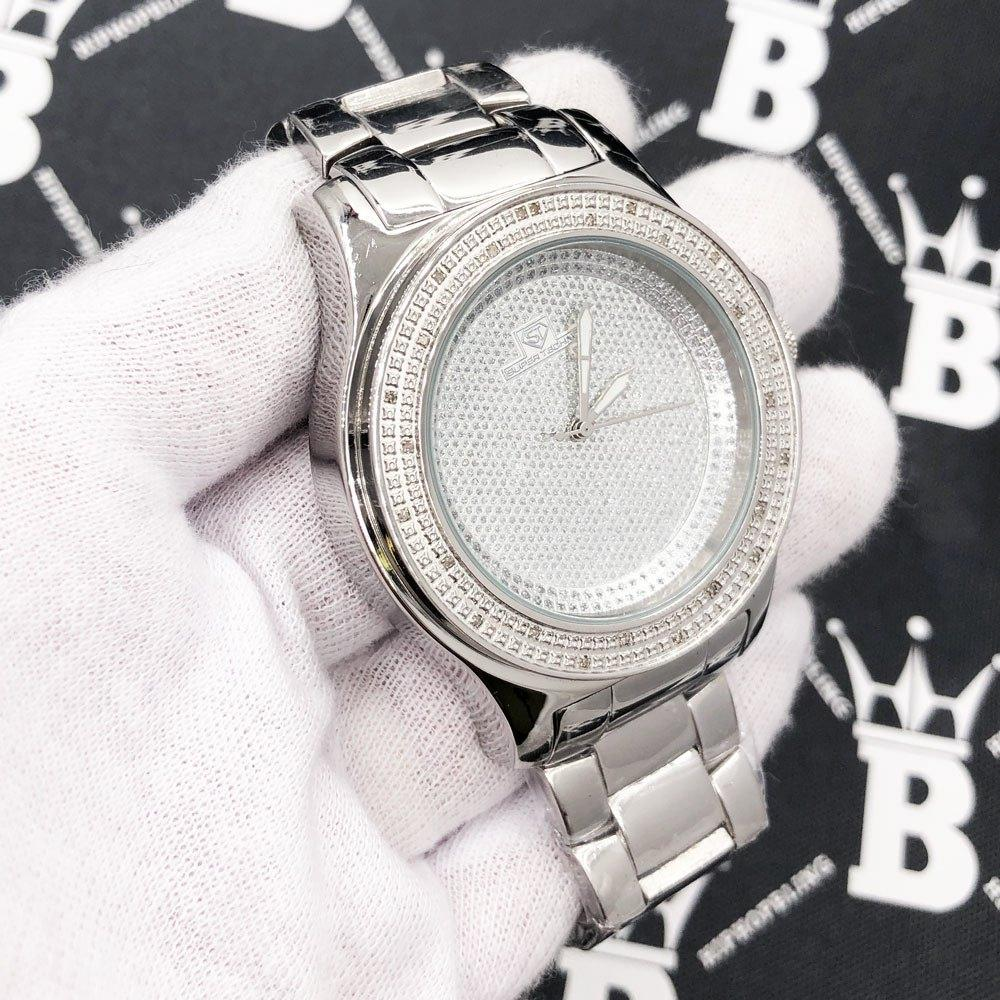 Classic .25 Carat Diamond Hip Hop Watch Bling Bling