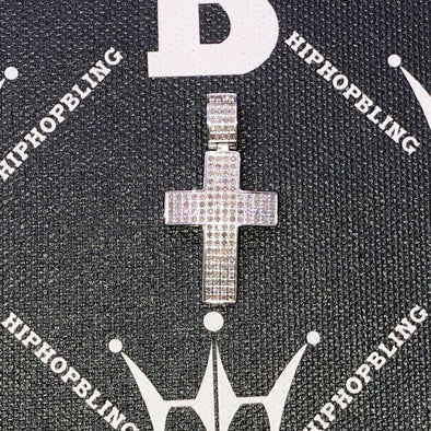 Mini Diamond Cross 1.40cttw Pendant Stainless Steel