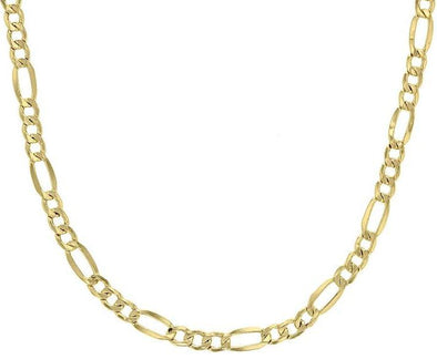 10K Yellow Gold Figaro Chain Lightweight