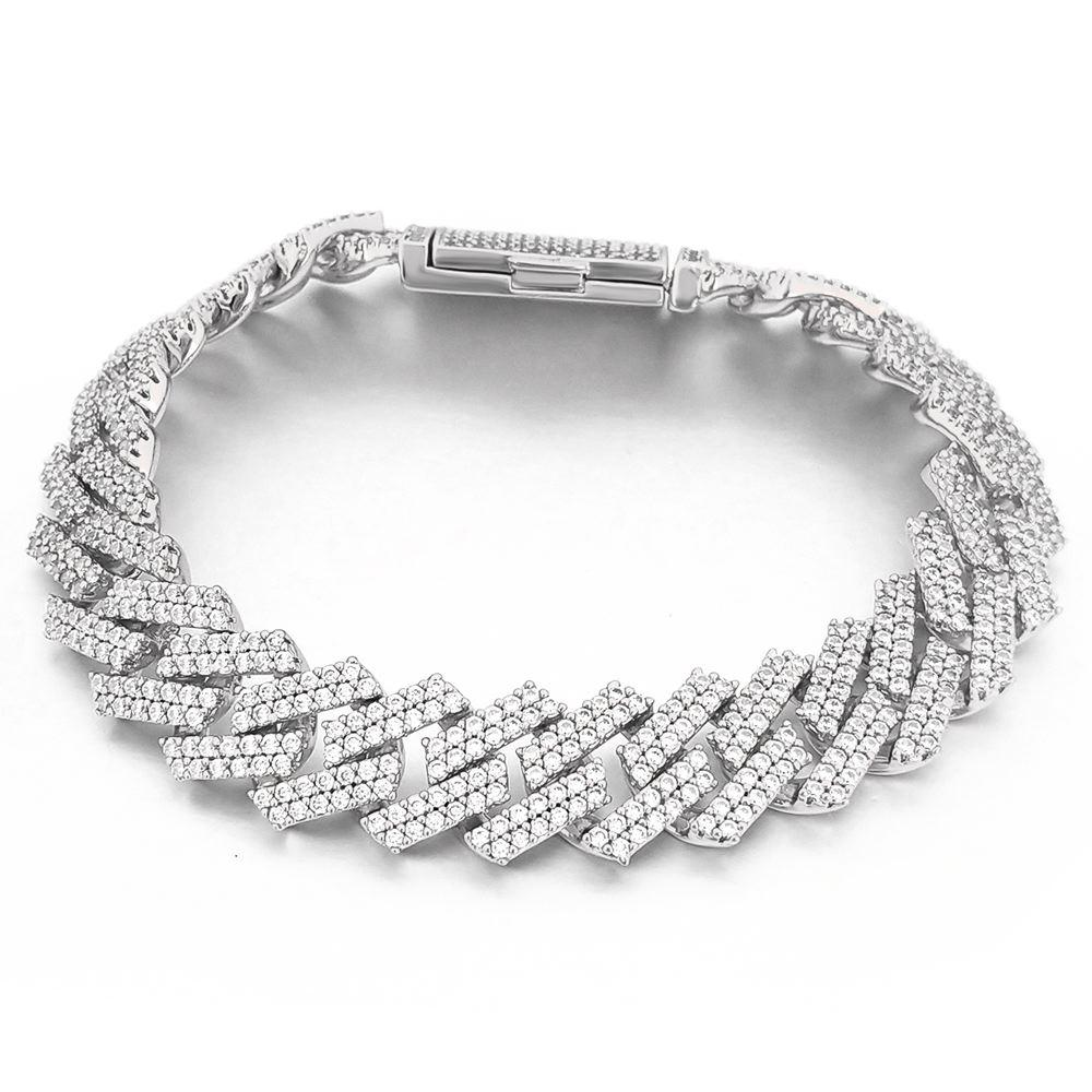 Sharp Cuban 14MM Bling Bling Bracelet