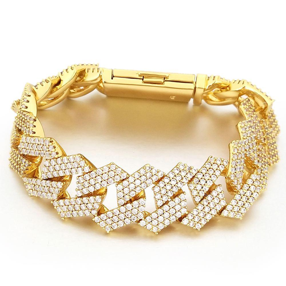 Triple Sharp Cuban 19MM Bling Bling Bracelet