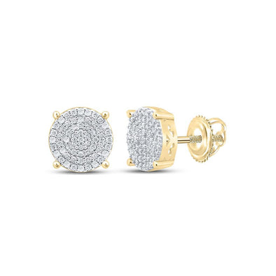 Circle .50cttw Diamond Earrings .925 Sterling Silver