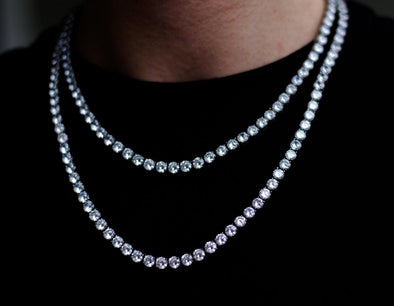 VVS Tennis Chain White Gold
