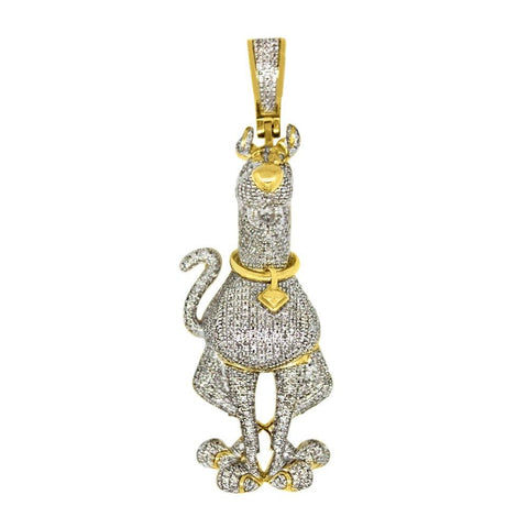 3D 10K Scooby Doo Custom 1.17 Carat Diamond Hip Hop Pendant