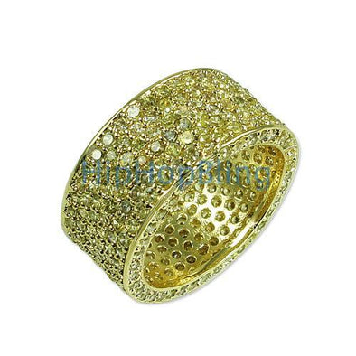 Lemonade 360 Eternity CZ Iced Out Ring