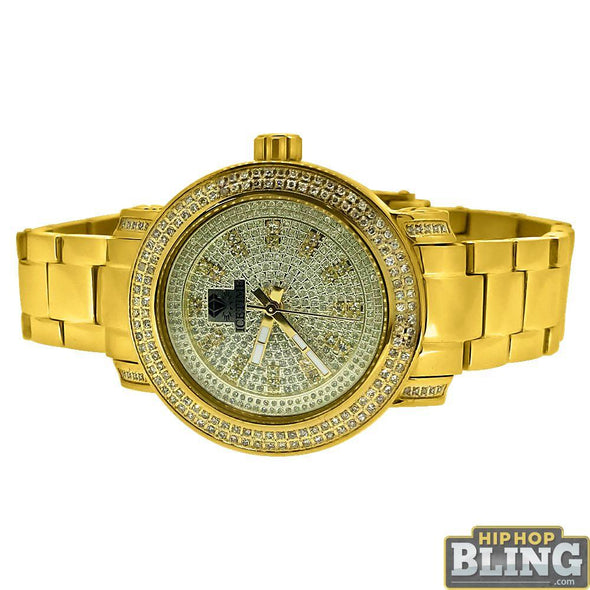 .75 Carat Diamond Queen IceTime Womens Watch Gold