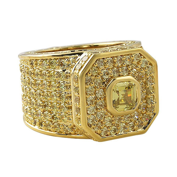 Lemonade Asscher Cut Boss Iced Out Ring