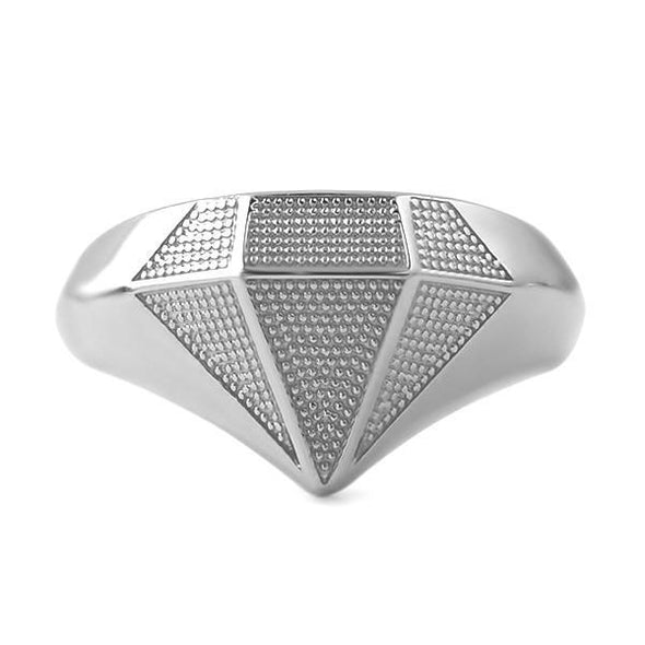 Diamond Shaped .925 Sterling Silver Custom Ring