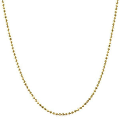 2MM Double IP Gold Stainless Steel Bead Chain
