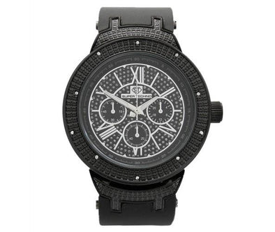 Black Master Super Techno Diamond Watch