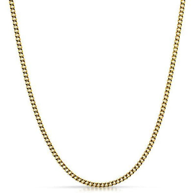 Cuban Chain 3MM Gold Stainless Steel
