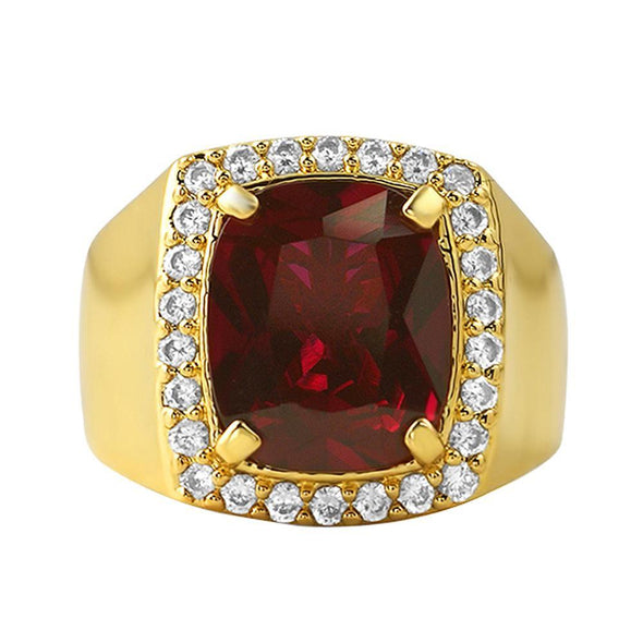 Lab Ruby Ring Clean Rick Ross Hip Hop Style