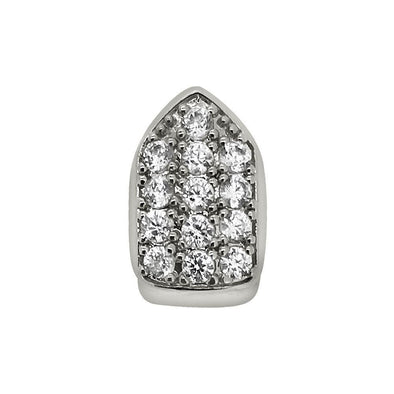 Bling Bling CZ Single Tooth Grillz Bottom Silver
