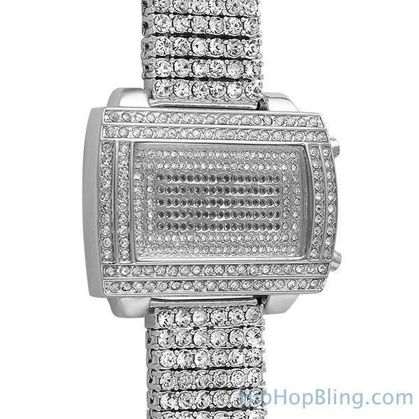 LED Digital Block Custom Bling Bling Watch (8)