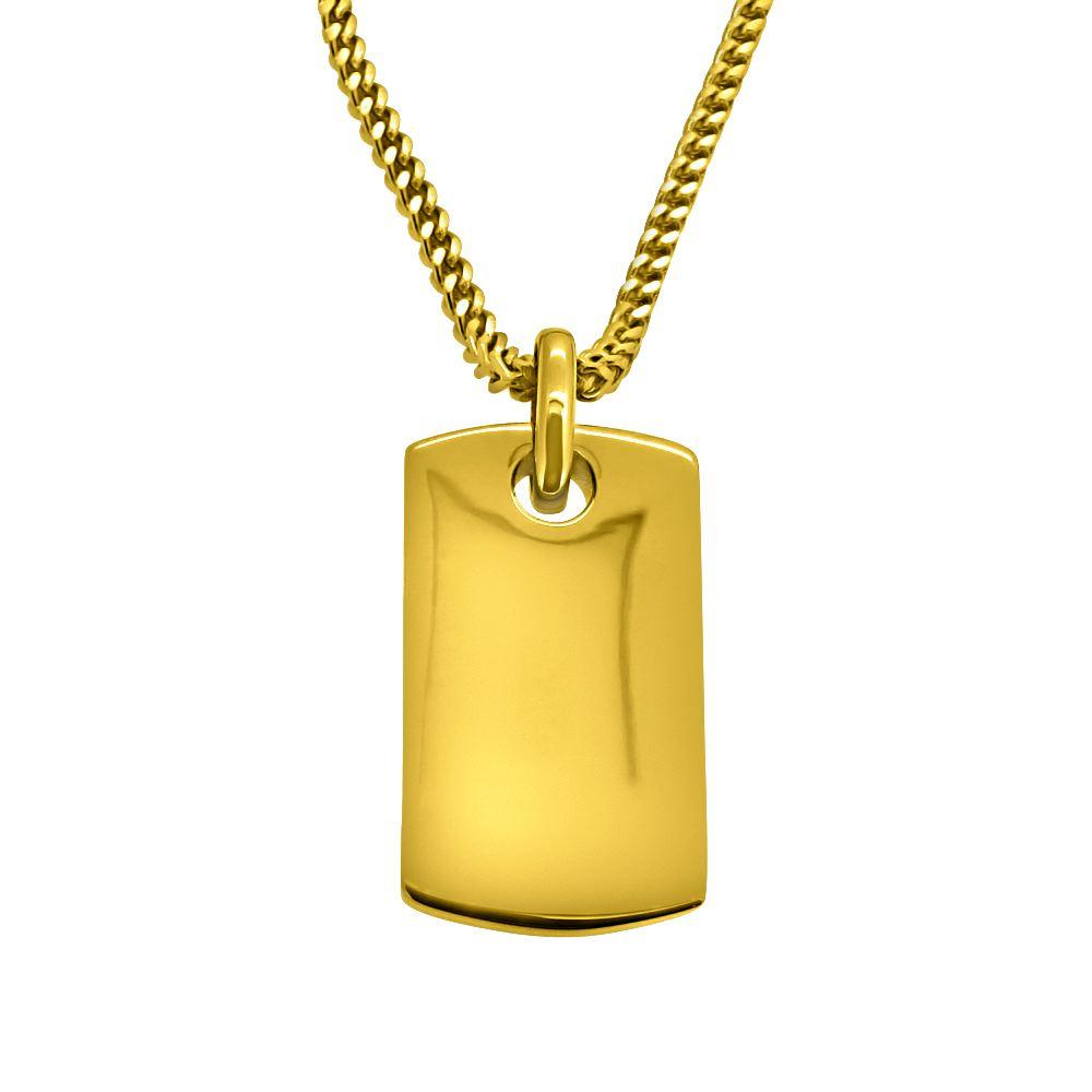Hiphopbling gold dog tag pendant aloadofball Choice Image