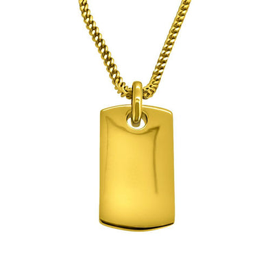 Hiphopbling gold dog tag pendant aloadofball Image collections