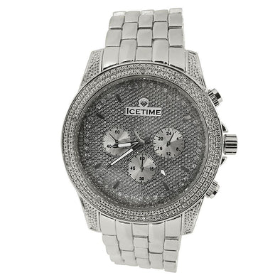 IceTime Storm Steel .10ct Diamond Bling Watch