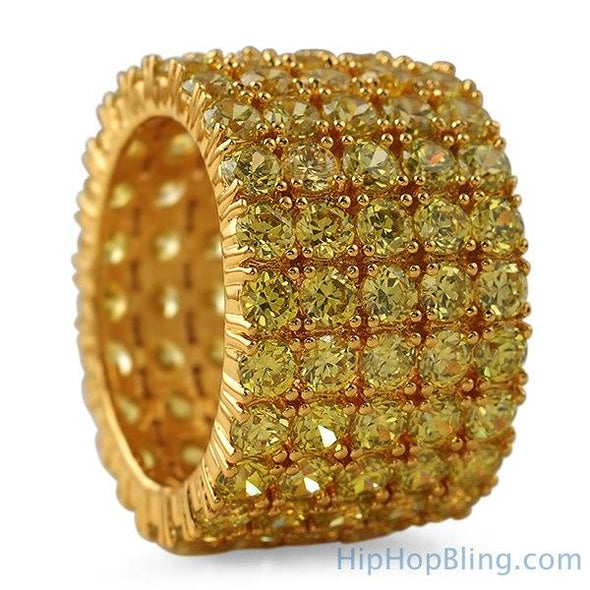 Fat 5 Row 360 Eternity Lemonade Bling Bling Ring