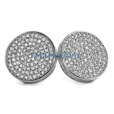 Jumbo Circle CZ Bling Bling Micro Pave Earrings