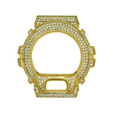 Gold CZ Stainless Steel Bezel Case For Casio G Shock DW6900