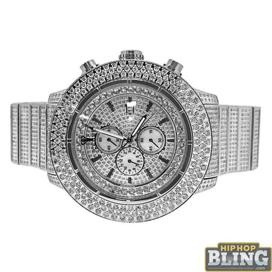 13.00 Carat Diamond IceTime Crown II Steel Watch