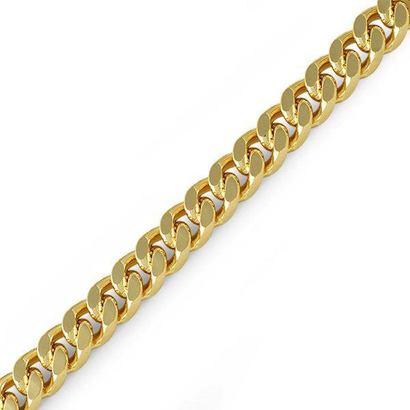 10MM Cuban Box Gold Plated Bracelet