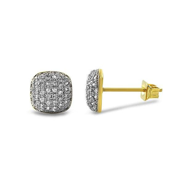 Icey Gold Bling Bling CZ Earrings
