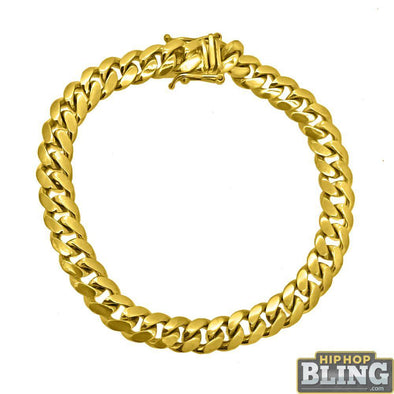 10K Yellow Gold Miami Cuban Bracelet 8MM