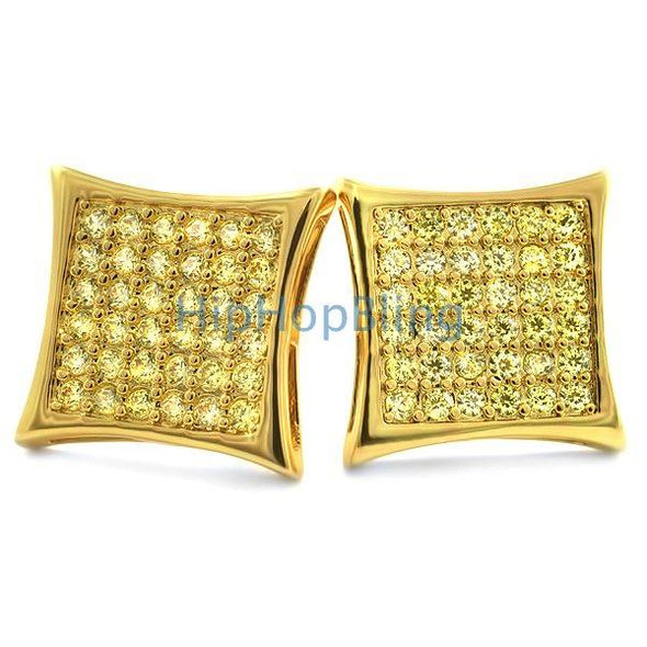 Kite 72 CZ Stones Lemonade Hip Hop Earrings