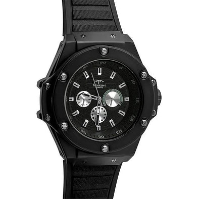 Black Solid Fashion Hip Hop Watch