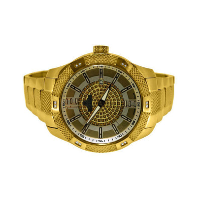 IP Gold IceTime Supernova .12cttw Diamond Watch