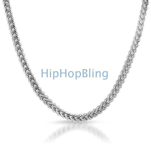 316L Stainless Steel 4mm Franco Hip Hop Chain