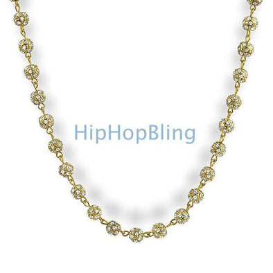 Gold Beads Bling Bling Chain 1000 Stones!!