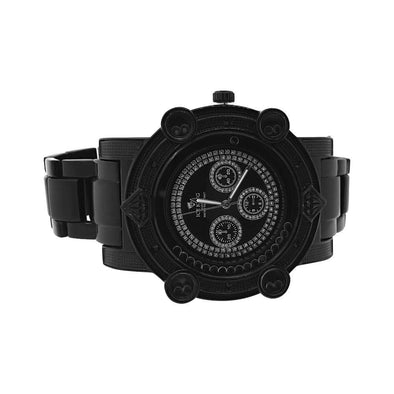 Black Heavy Metal Bling Bling Hiphop Watch