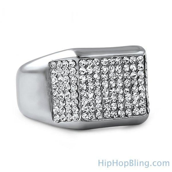 Kings Bling Bling Stainless Steel Ring