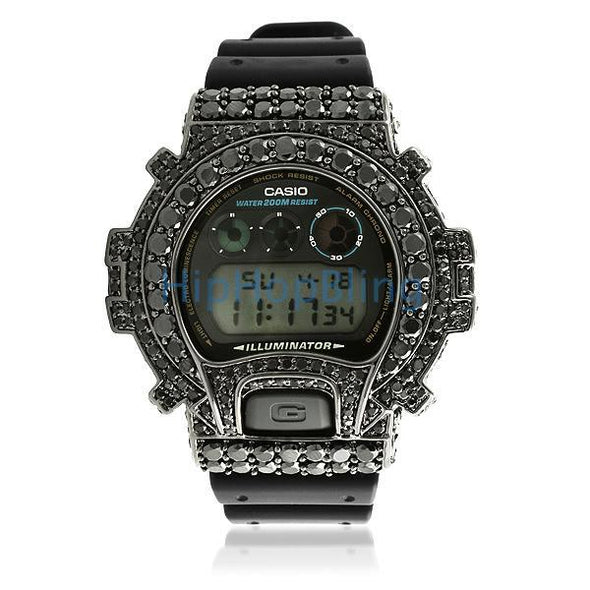 Big Boy Custom Black G Shock Watch DW6900