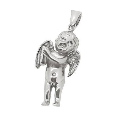 VS Angel Diamond Eyes Cherub Silver Pendant