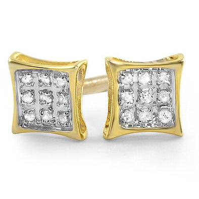 Kite Diamond Earrings in .925 Sterling Silver | 4 Sizes | 2 Colors