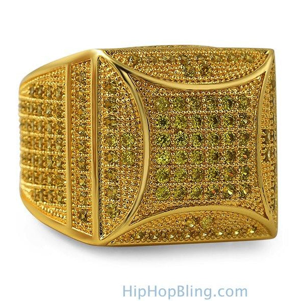 Kite Box Bling Bling Lemonade CZ Micro Pave Ring