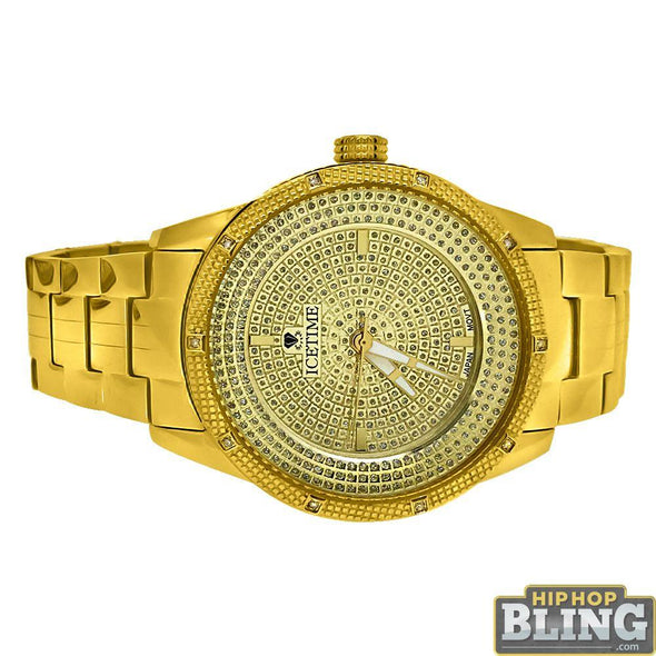 Galaxy Diamond IceTime .10 Carat Watch Gold