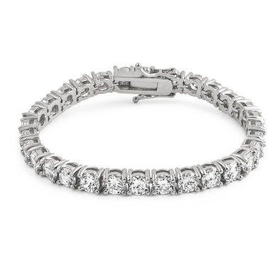 6MM CZ 1 Row Bling Bling Tennis Bracelet Rhodium