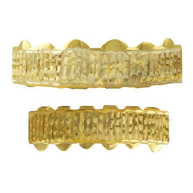 Gold Grillz Bar Diamond Cut Set