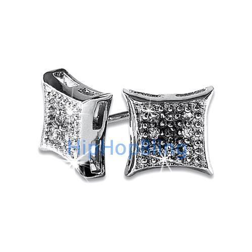 Kite Small CZ Micro Pave Earrings .925 Silver