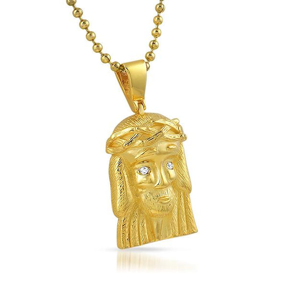 Clean Gold Micro Jesus Piece