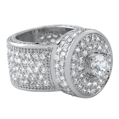 Bling Bling Cluster Micro Pave CZ Ring