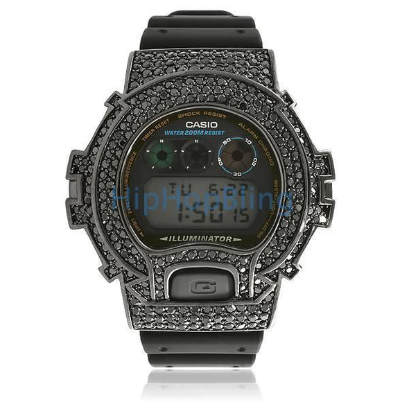Custom G Shock Watch All Black Bling Bling