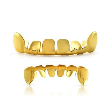 Grillz Set Gold Outline Teeth