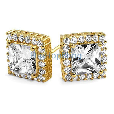 Princess Bling Border CZ Earrings